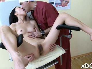Doctor and his sexy holder had a very good time jointly