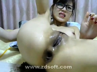 Asian anal webcam masturbation