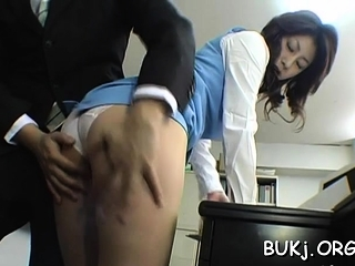 Fabulous busty eastern beauty Mariko Shiraishi fucked tramp