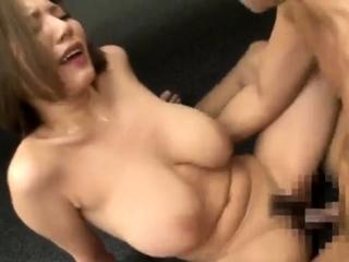 Beautiful Asian round enduring nipples blowjob