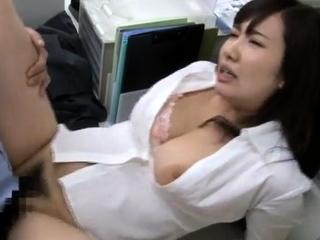 Naughty asian cutie opens hairy pussy for hardcore hammering